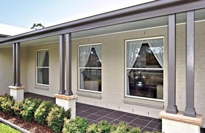 Essential double hung window (52mm frame - without screens)