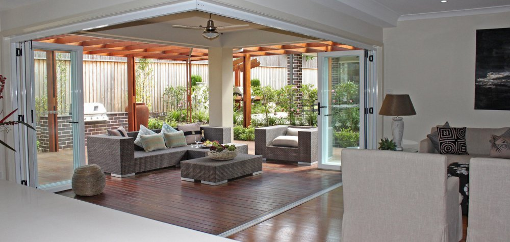 Signature 90 degree corner Bi-Fold door