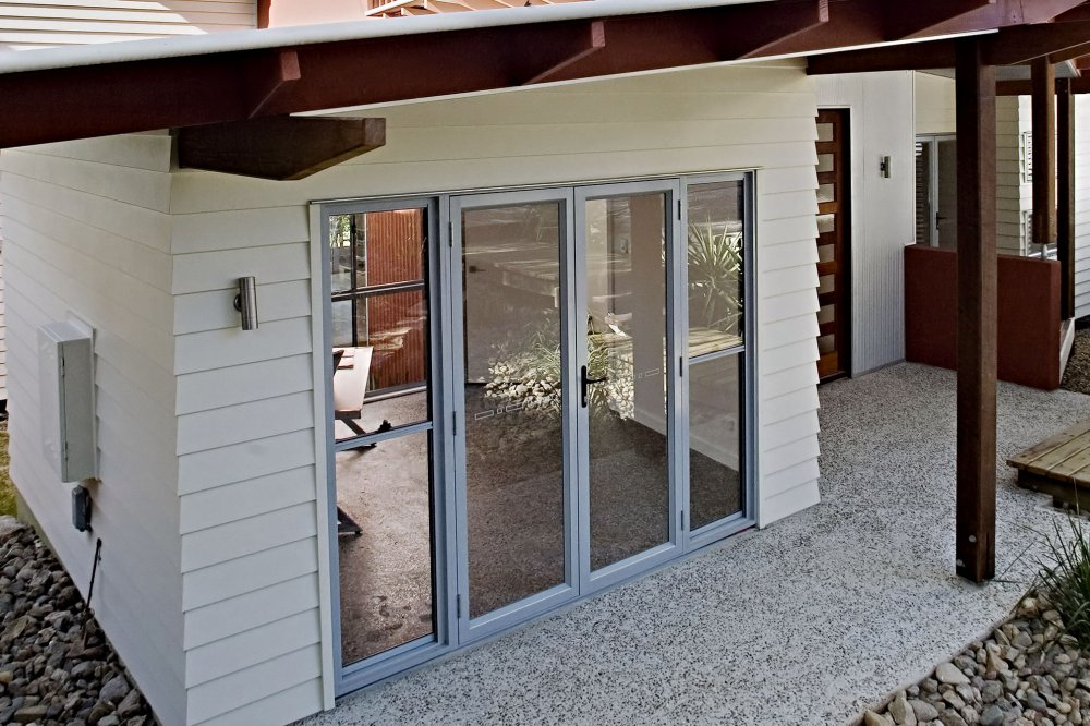 3 Panel Hinged Patio Door : Aluminium bi fold hinged doors statesman windows adelaide